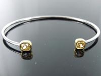 1.28ctw Brownish Yellow Cushion Cut Diamond Bangle R9170
