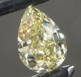 SOLD....0.62ct Greenish Yellow Chameleon SI2 Pear Shape Diamond R9290