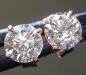 SOLD....1.04ctw J-K (Brown) Round Brilliant Diamond Earrings R9267