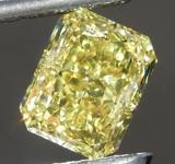 1.30ct Intense Yellow VS1 Radiant Cut Diamond R9304