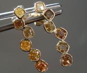 0.85ctw Brownish Yellow Diamond Earrings R8813