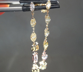 SOLD.....2.28ctw Yellow and Pink Diamond Earrings R8503