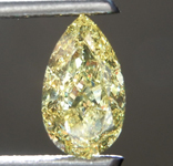 1.19ct Intense Yellow SI1 Pear Shape Diamond R9328