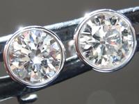 SOLD....1.10ctw J-K (Light Brown) SI2-I1 Round Brilliant Diamond Earrings R9279