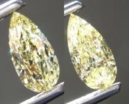 2.01 Intense Yellow I1 Pear Shape Diamond Earrings R9330
