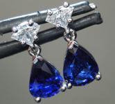 2.36ctw Blue Pear Shape Sapphire Earrings R9344