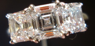 SOLD....Diamond Wedding Band: 2.38ctw Asscher Band R555