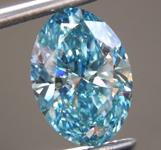 3.51ct Greenish Blue SI1 Oval Shape Lab Grown Diamond R9386