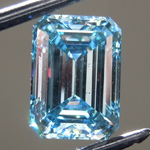 2.10ct Intense Blue SI2 Emerald Cut Lab Grown Diamond R9408