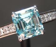 1.51ct Greenish Blue SI1 Asscher Cut Lab Grown Diamond R9409