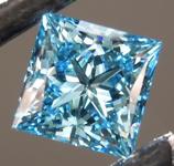 1.06ct Intense Blue VS2 Princess Cut Lab Grown Diamond R9418