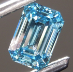 1.01ct Blue SI1 Emerald Cut Lab Grown Diamond R9422