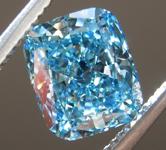 1.65ct Greenish Blue VS2 Cushion Cut Lab Grown Diamond R9436