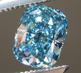 1.27ct Intense Blue VS2 Cushion Cut Lab Grown Diamond R9438