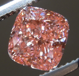 1.25ct Orangy Pink Cushion Cut Lab Grown Diamond R9442