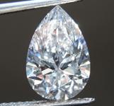 1.55ct D VVS2 Pear Shape Lab Grown Diamond R9476