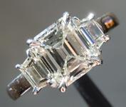 1.51ct K VS2 Emerald Cut Diamond Ring R9338