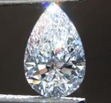 0.87ct D VS1 Pear Shape Lab Grown Diamond R9486