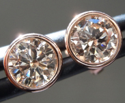 1.09ctw Brown VS Round Brilliant Diamond Earrings R9380