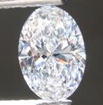 0.93ct D VVS2 Oval Shape Lab Grown Diamond R9514