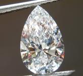 1.63ct D VVS2 Pear Shape Lab Grown Diamond R9518