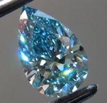 SOLD......0.61ct Vivid Blue VS2 Pear Shape Lab Grown Diamond R9542