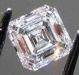 1.08ct F VS2 Asscher Cut Lab Grown Diamond R9546
