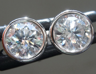 SOLD....1.43ctw J-K SI2 Round Brilliant Diamond Earrings R9383