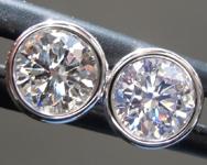 SOLD....1.01ctw H-I I1 Round Brilliant Diamond Earrings R9531