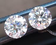 SOLD.....2.52ctw E SI2 Round Brilliant Lab Grown Diamond Earrings R9564