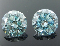 SOLD....2.00ctw Blue SI2 Round Brilliant Lab Grown Diamond Earrings R9576