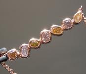 0.82ctw Fancy Colored Diamond Necklace R9242
