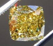 1.73ct Intense Yellow SI1 Cushion Cut Diamond R9580