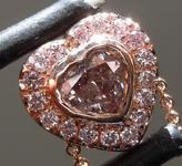 0.28ct Purple I1 Heart Shape Diamond Pendant R9289