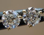 1.00ctw E-F I1 Round Brilliant Lab Grown Diamond Earrings R9616
