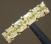 SOLD.....2.59ctw Yellow VS Asscher Cut Diamond Ring R9615