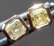 SOLD...0.81ctw Yellow VS Asscher Cut Diamond Earrings R9595