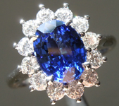 SOLD....2.24ct Blue Oval Brilliant Sapphire Ring R9606