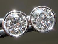2.06ctw E SI1 Round Brilliant Lab Grown Diamond Earrings R9625