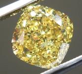 2.01ct Vivid Yellow SI1 Cushion Cut Diamond R9646