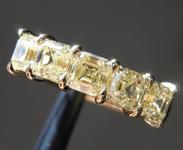 1.98ctw Yellow VS Asscher Cut Diamond Ring R9636
