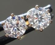 SOLD... 1.04ctw J-K SI2 Round Brilliant Diamond Earrings R9454