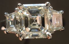 SOLD.....Ring: GIA 2.03ct K/VS2 Asscher Diamond Ring with trapezoids R1474