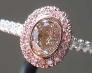 0.66ct Brown SI2 Oval Shape Diamond Ring R9234