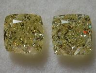 SOLD...2.37ctw Y-Z Cushion Cut Diamond Earrings R9684
