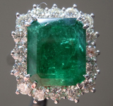 SOLD....6.61ct Emerald Cut Emerald Ring R9558