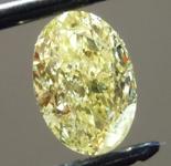 1.01ct Yellow I2 Oval Shape Diamond R9734