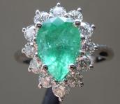 2.04ct Pear Shape Emerald Ring R9691