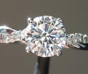 1.06ct D VVS2 Round Brilliant Lab Grown Diamond Ring R9678