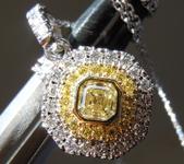 0.26ct Yellow VS Asscher Cut Diamond Pendant R9719